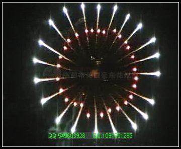 艺术焰火-银波环红环