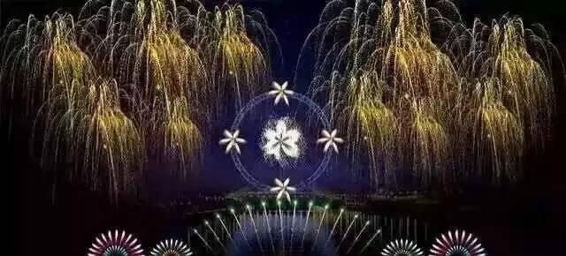 大型焰火-银锦冠